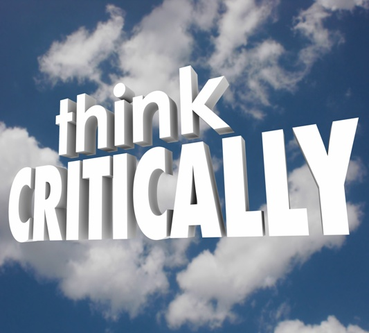 Think Critically 3d Words Cloudy Sky Understand Analyze Problem