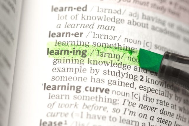 Learning definition highlighted