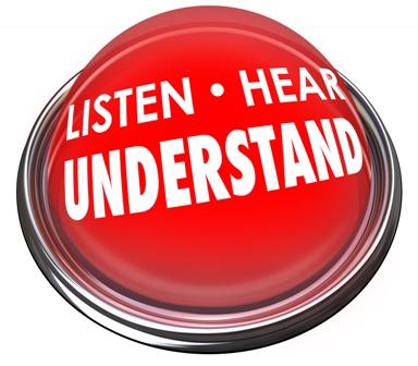 Listen Hear Understand Red Button Light Learn Comprehension