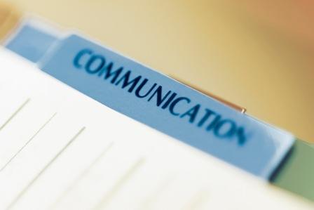 Communication written on a folder