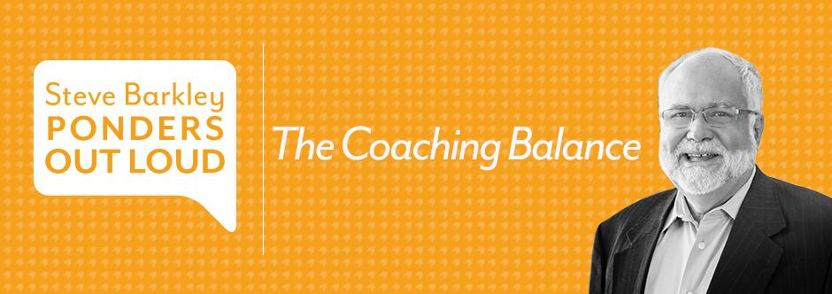 steve barkley, the coaching balance