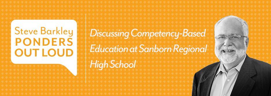 steve barkley, Discussing Competency-Based Education at Sanborn Regional High School