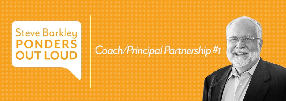 steve barkley, coach/principal partnership #1