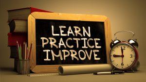 learn, practice, improve