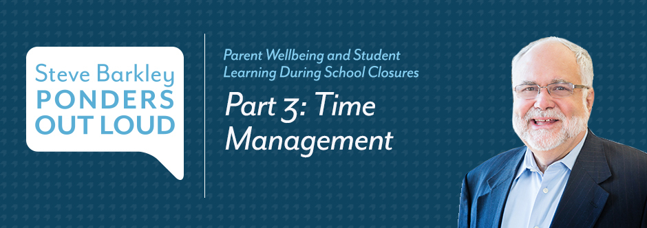 steve barkle, parent wellbeing, student learning