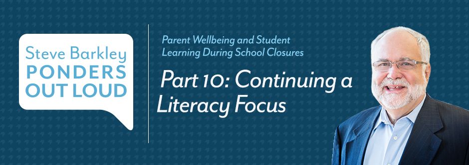steve barkley, Continuing a Literacy Focus part 10