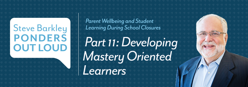 steve barkley, developing mastery oriented learners