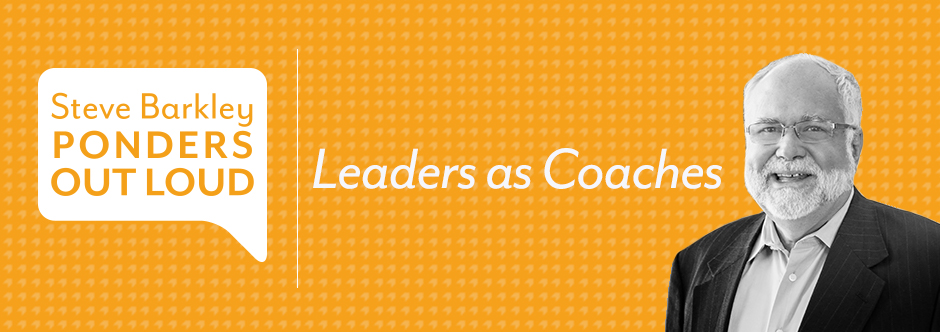 steve barkley, leaders as coaches