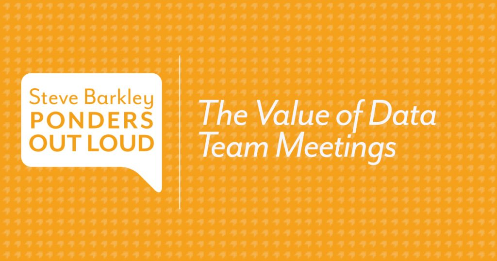 The Value of Data Team Meetings